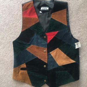 Faux Leather Retro Vest